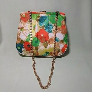 Handbags - Retro Handbag Floral Gold Chain
